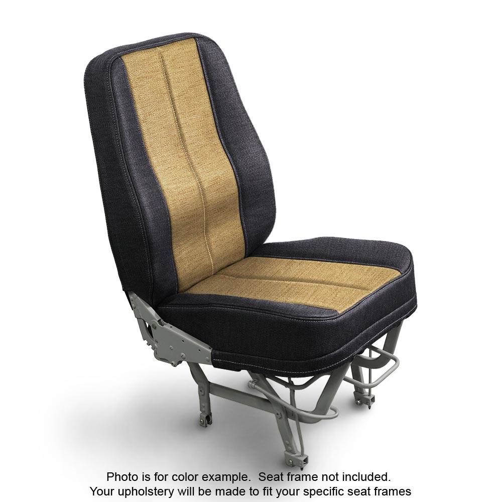 Fabric Coal Gold Airplane Seats