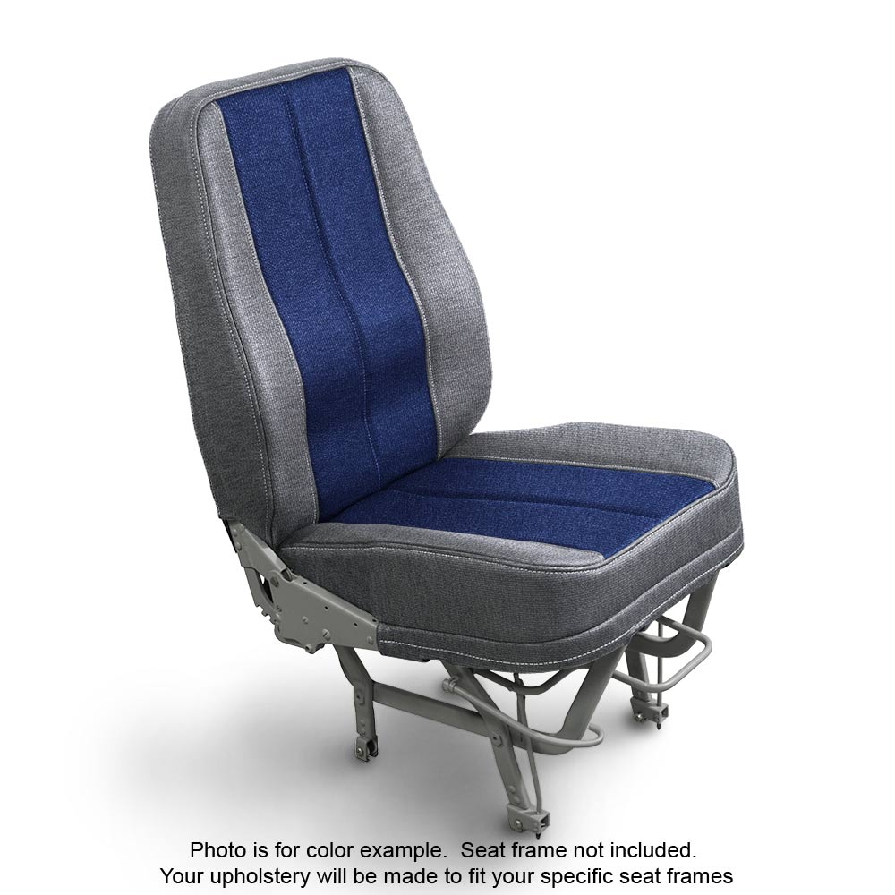 Fabric Silver Blue Seats