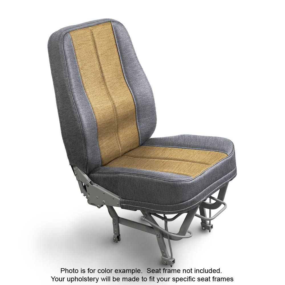 Fabric Silver Gold Aircraft Seat Upholstery