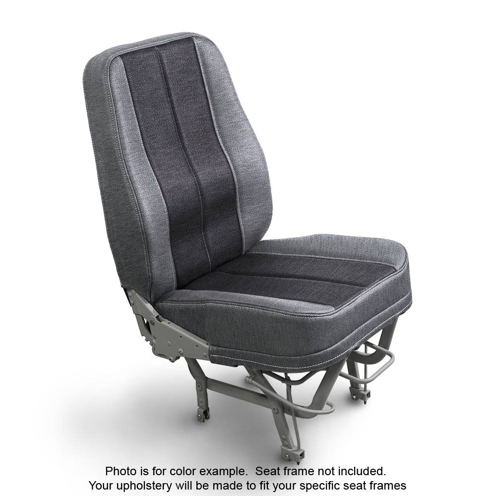 Fabric Silver Coal Airplane Seats
