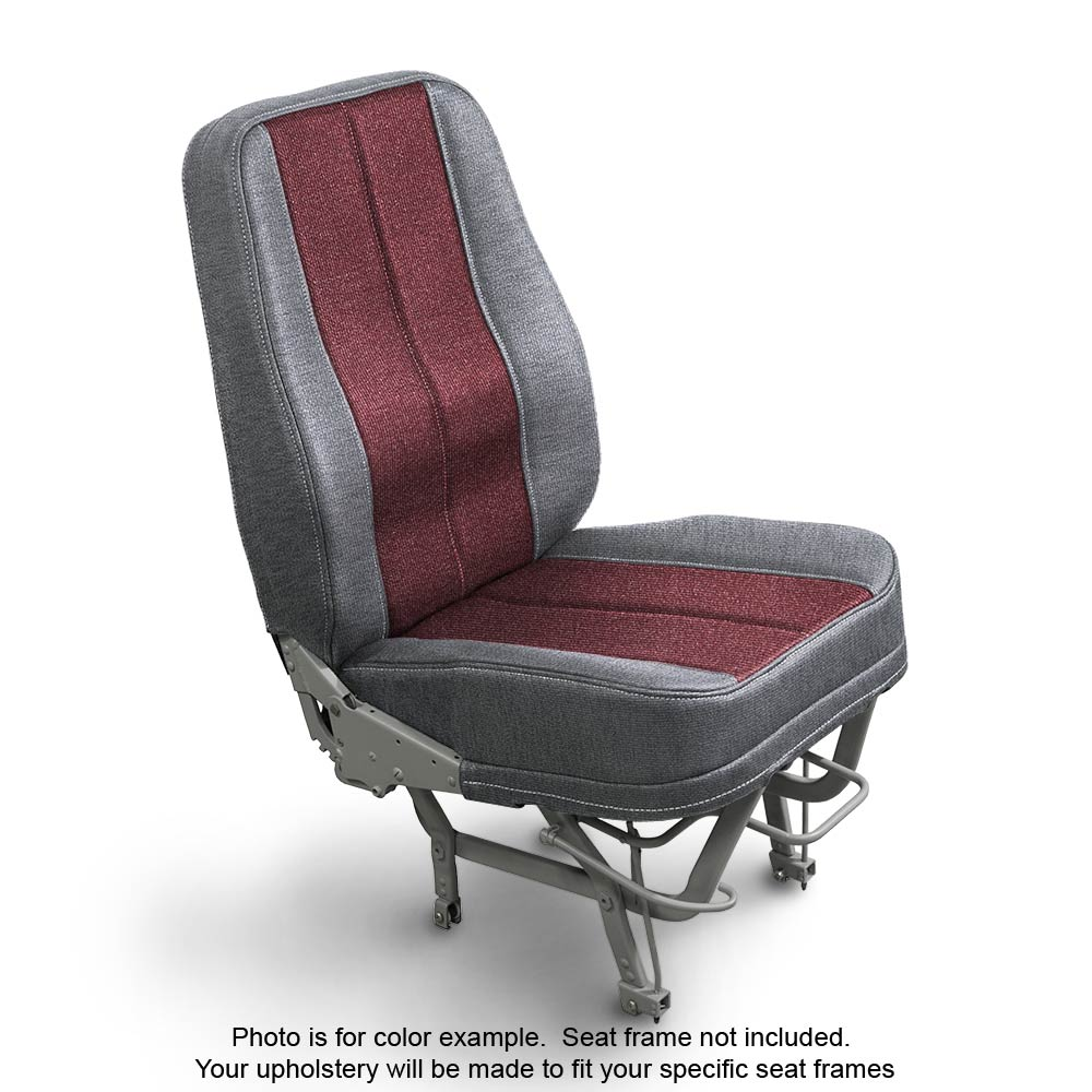 Fabric Silver Garnet Aircraft Seat Upholstery