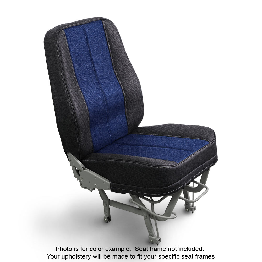 Fabric Coal Blue Aircraft Seat Upholstery