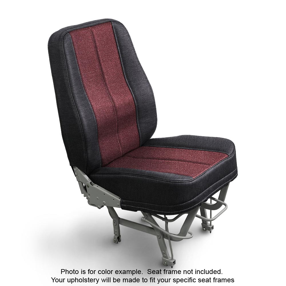 Fabric Coal Garnet Airplane Seat Upholstery