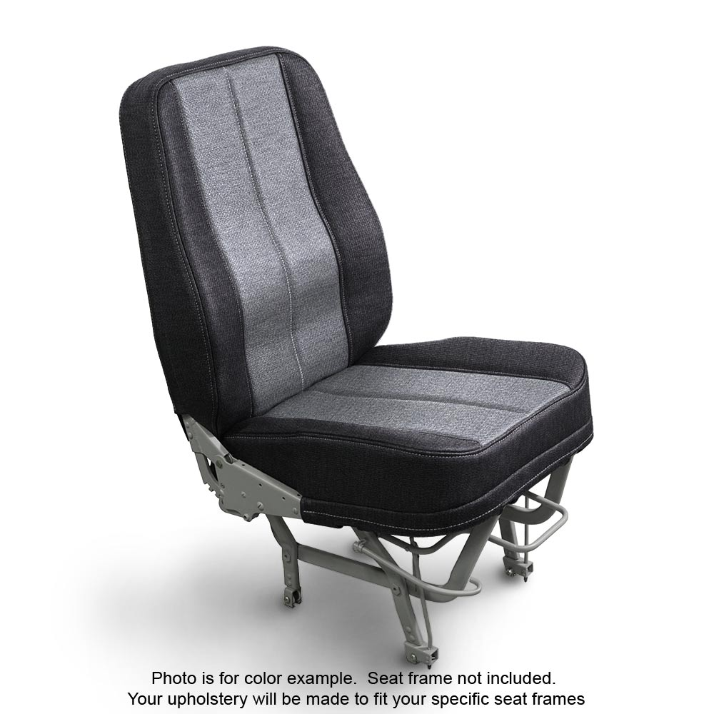Fabric Coal Silver Aircraft Seats