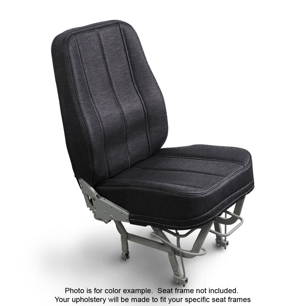 Fabric Coal Aircraft Seat Upholstery