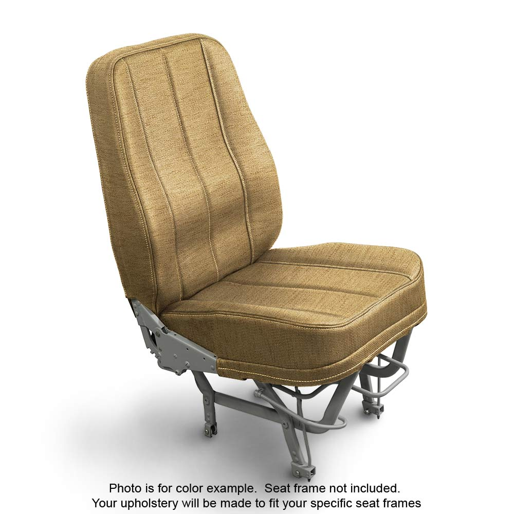 Fabric Gold Aircraft Seat Upholstery