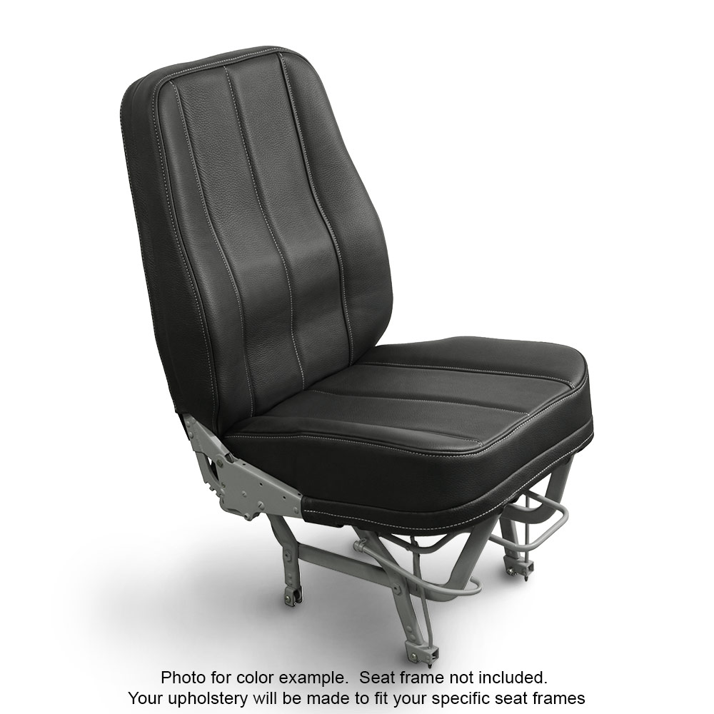 Leather Black Seat Upholstery For Cessna and Piper